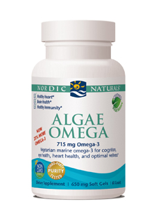 Product detail fish oil algae omega 60 gels w01605 for Nordic naturals fish oil for dogs